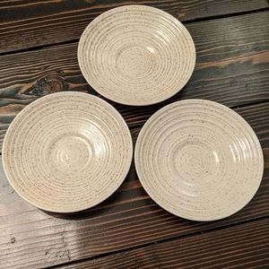 Churchill Homespun Stonecast Set of 3 Saucers